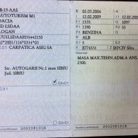 AUTOTURISM DACIA LOGAN, SB 19 AAS