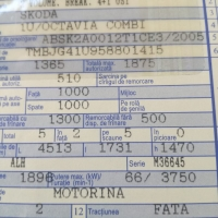 AUTOTURISM SKODA OCTAVIA COMBI CLASSIC 1.9 TDI/90CP